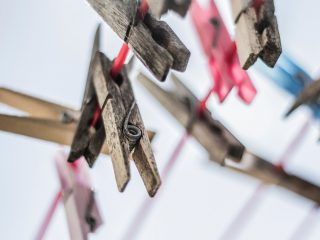 hanging clothes pins
