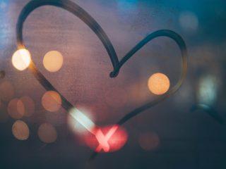 heart in window