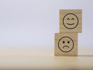 happy and sad blocks