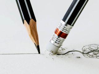 erasing a mistake