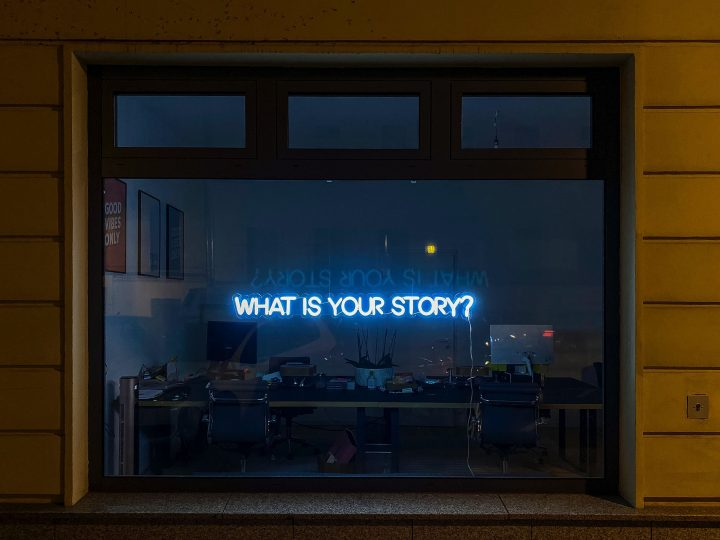 neon sign What is Your Story
