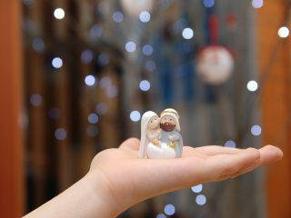 Nativity set in child's hand